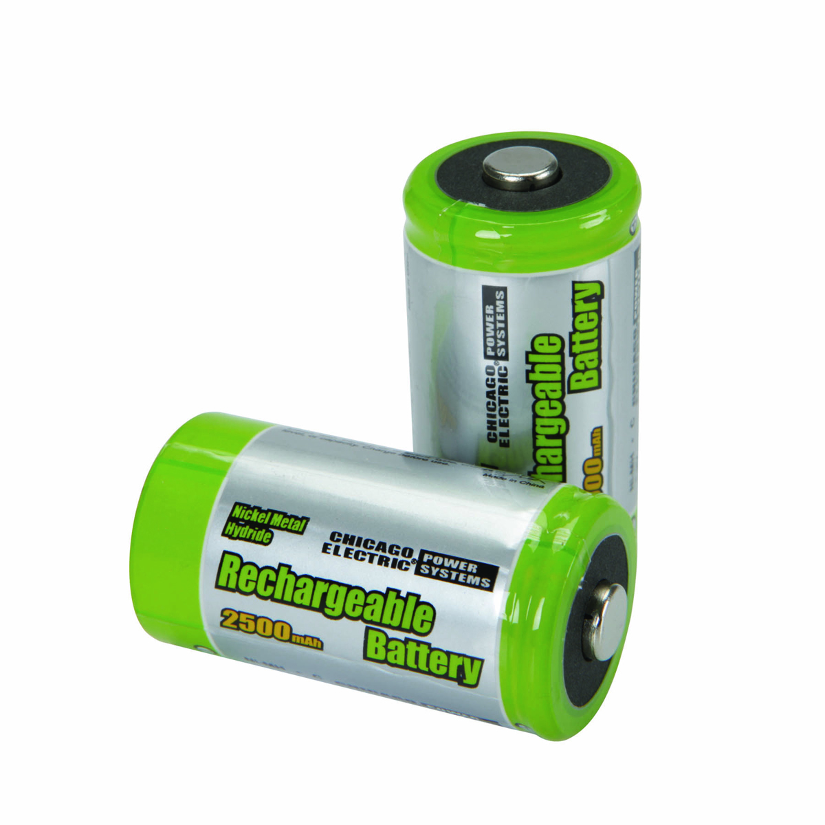 pack of 2 high capacity nimh rechargeable c batteries. Black Bedroom Furniture Sets. Home Design Ideas