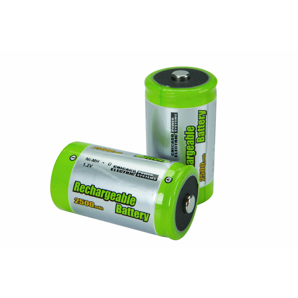 pack of 2 high capacity nimh rechargeable d batteries. Black Bedroom Furniture Sets. Home Design Ideas