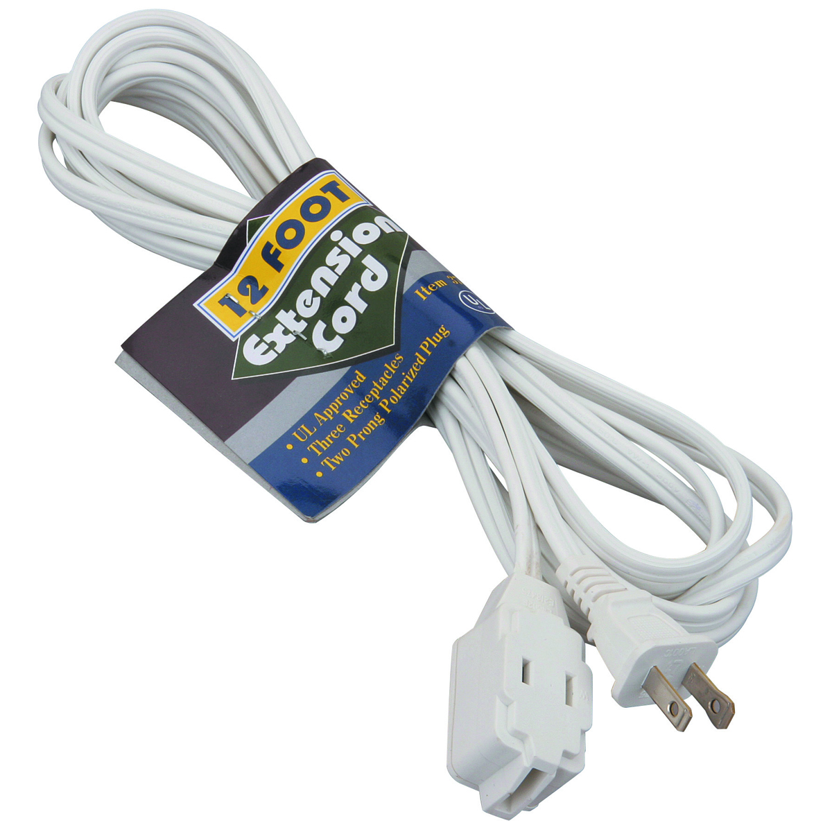 12 Ft. X 16 Gauge Indoor Extension Cord