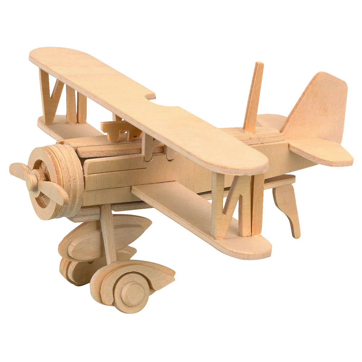 Wooden Toy Plans Catalog : Balsa wood puzzle airplane