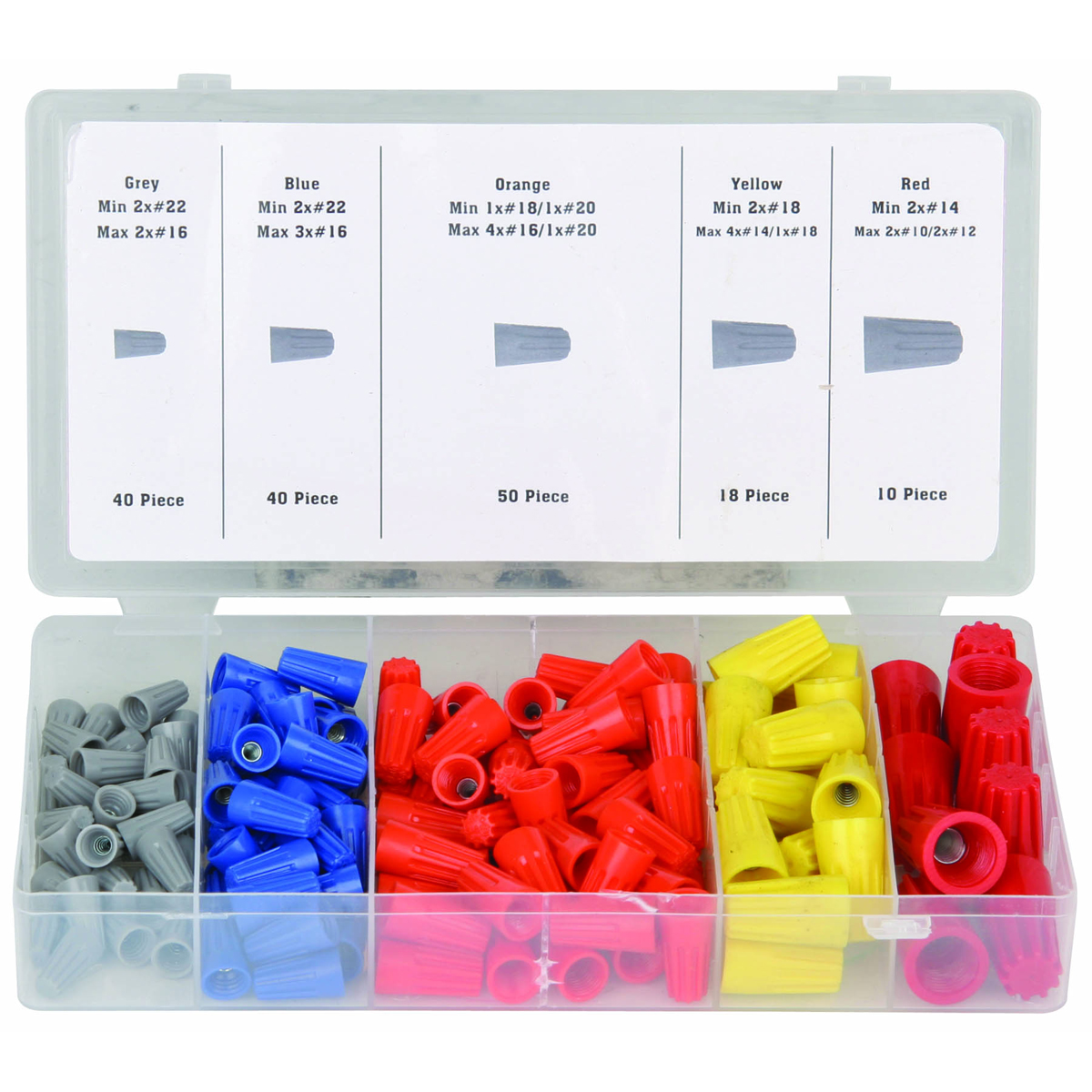 158 Pc Wire Connector Assortment Color Code Chart Related Keywords Suggestions