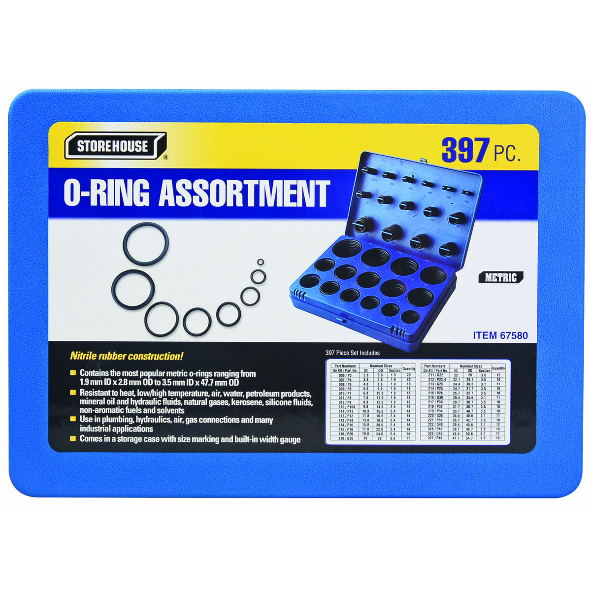 Oil Change Coupons >> O-Ring Assortment Pack - 397 Piece Metric O-Ring Assortment