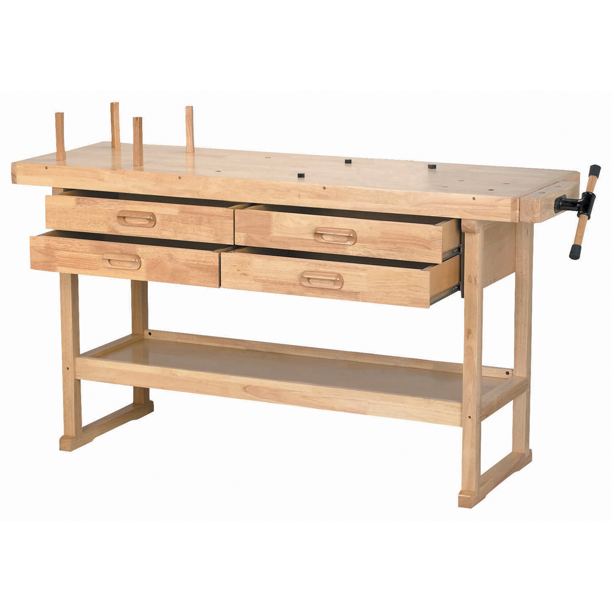 4 Drawer Hardwood Workbench