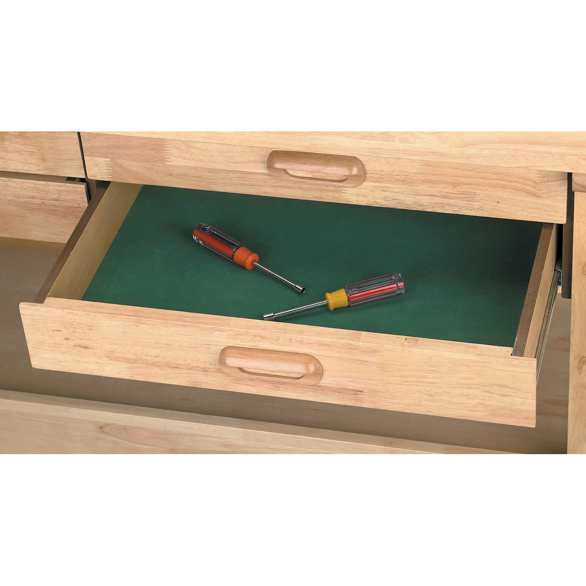 In drawer hardwood workbench