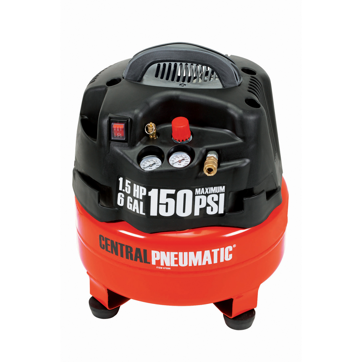 6 Gal  1 5 Hp 150 Psi Professional Air Compressor
