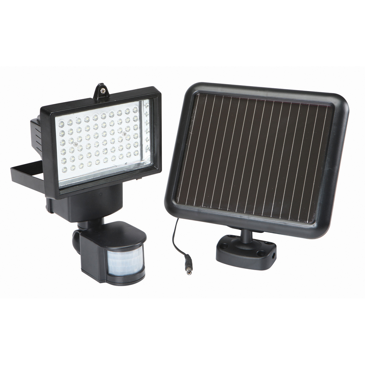 60 led solar security light. Black Bedroom Furniture Sets. Home Design Ideas