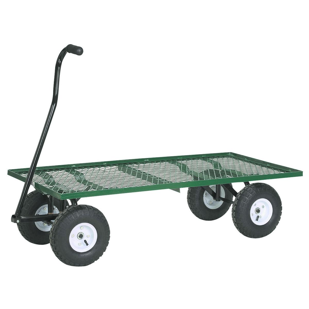 Steel Mesh Deck Utility Wagon