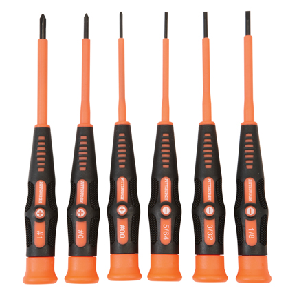 6 piece electrician 39 s micro screwdriver set. Black Bedroom Furniture Sets. Home Design Ideas