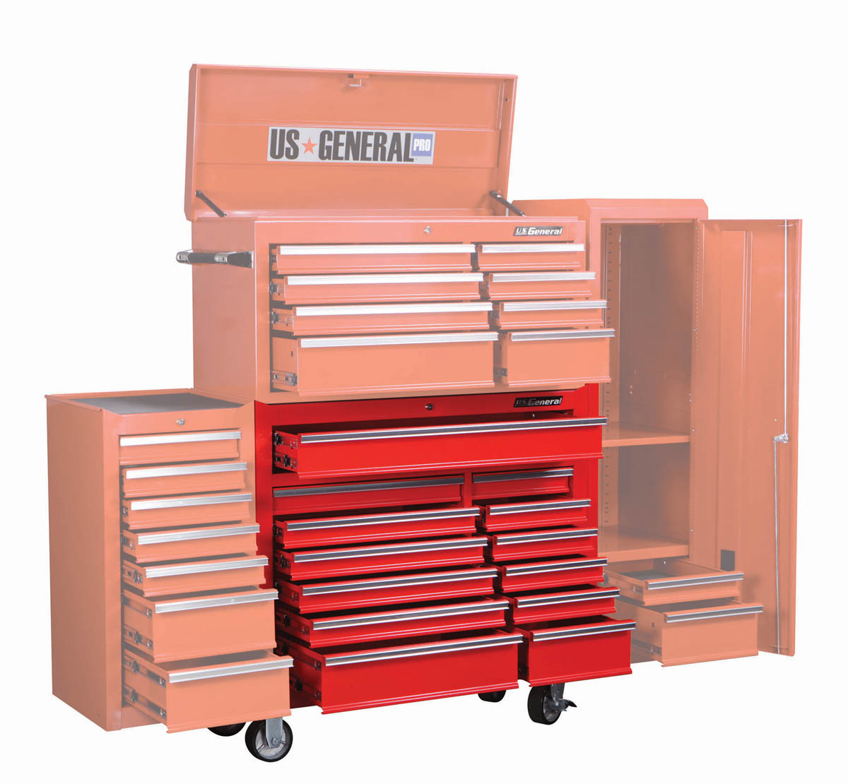 Harbor Freight Catalog : In drawer glossy red industrial roller cabinet