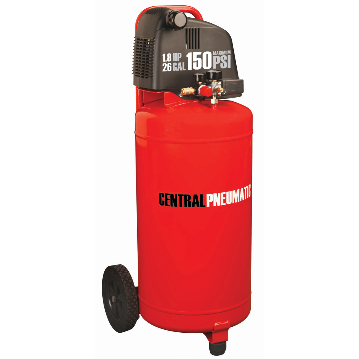 26 Gal 1 8 Hp 150 Psi Oilless Air Compressor