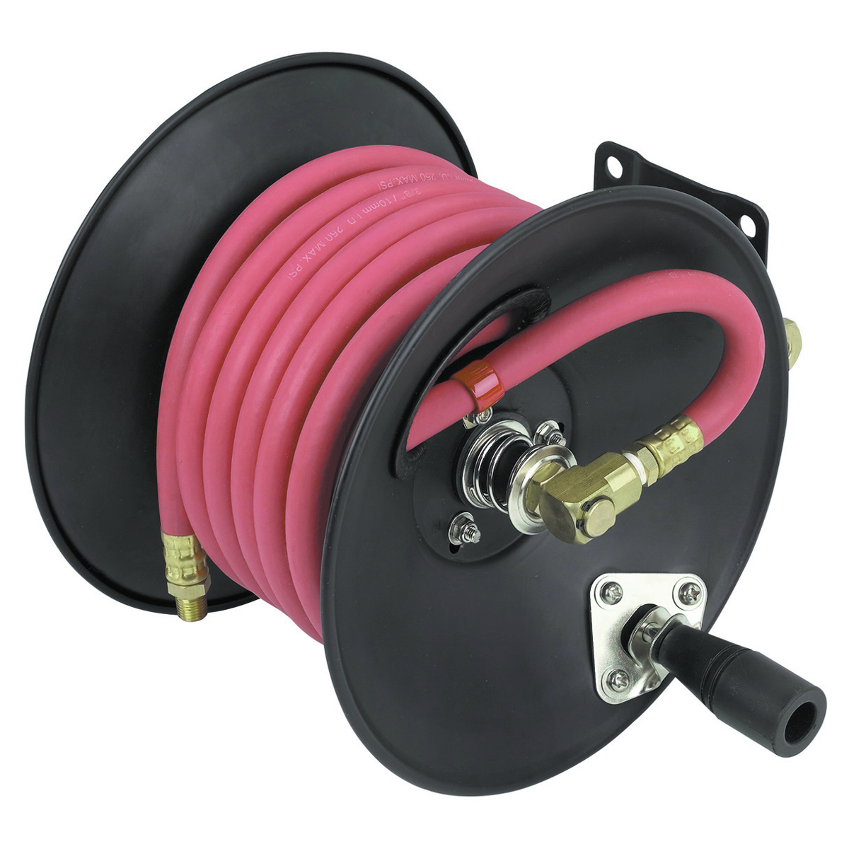air hose reel with 3  8 in x 30 ft hose