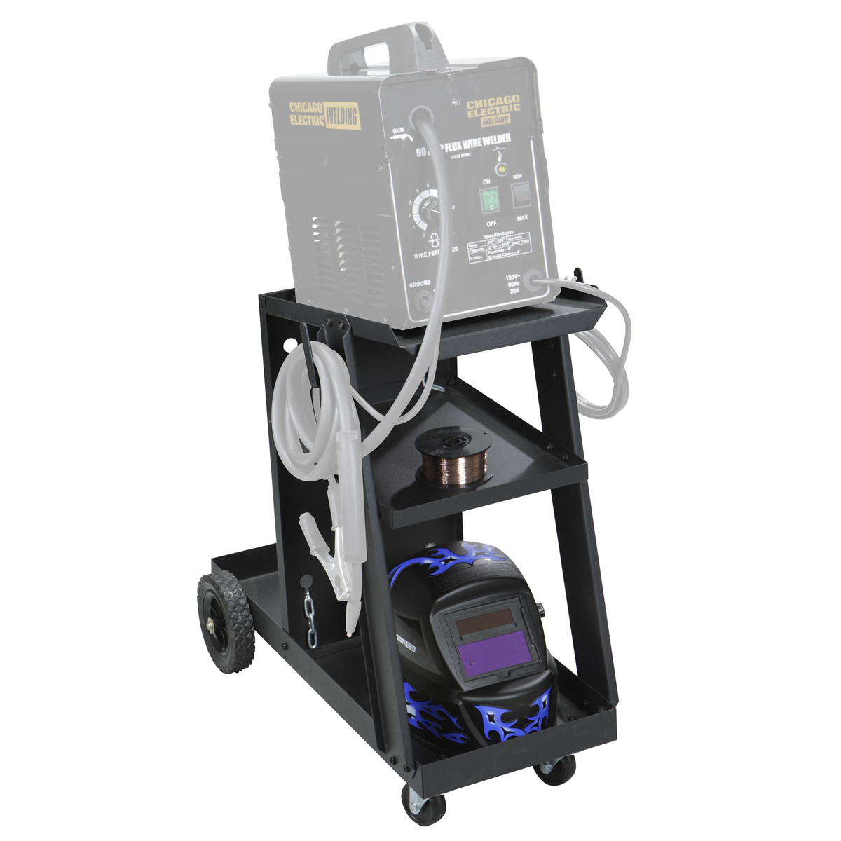 Harbor Freight Chicago Electric Welding Cart Not Lossing Wiring Diagram Rh Harborfreight Com 34 99 Coupon Gas Modifications