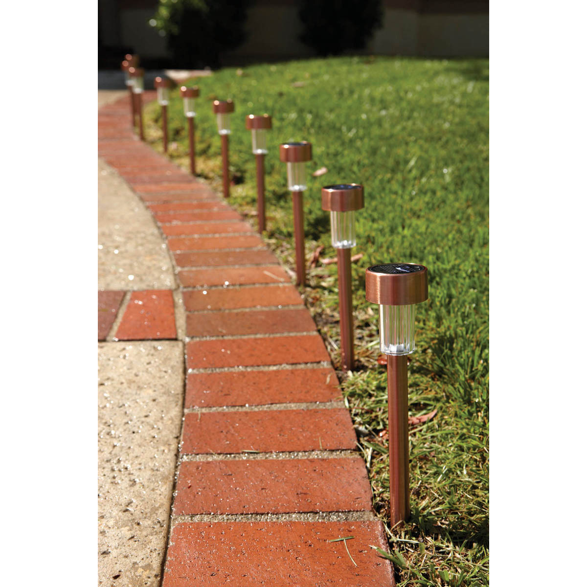 Solar Copper Led Path Lights 10 Piece