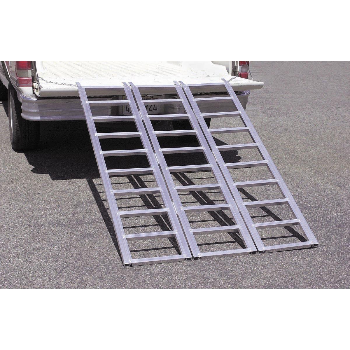 Aluminum Folding Ramps >> 1500 lbs. Capacity Tri-Fold Aluminum Loading Ramp
