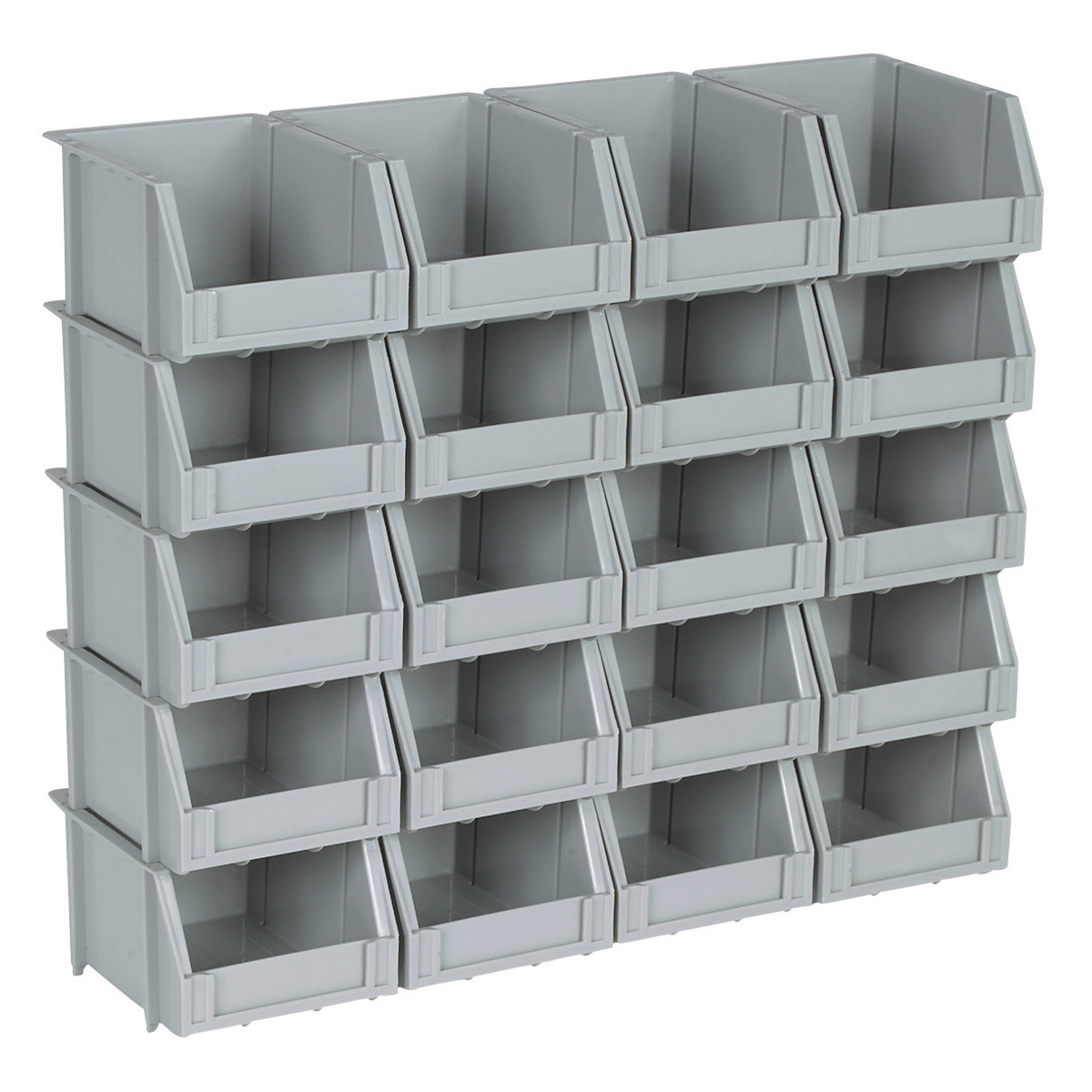 Stackable Storage Bins Isda Network. 20 Piece Poly Bins And Rails