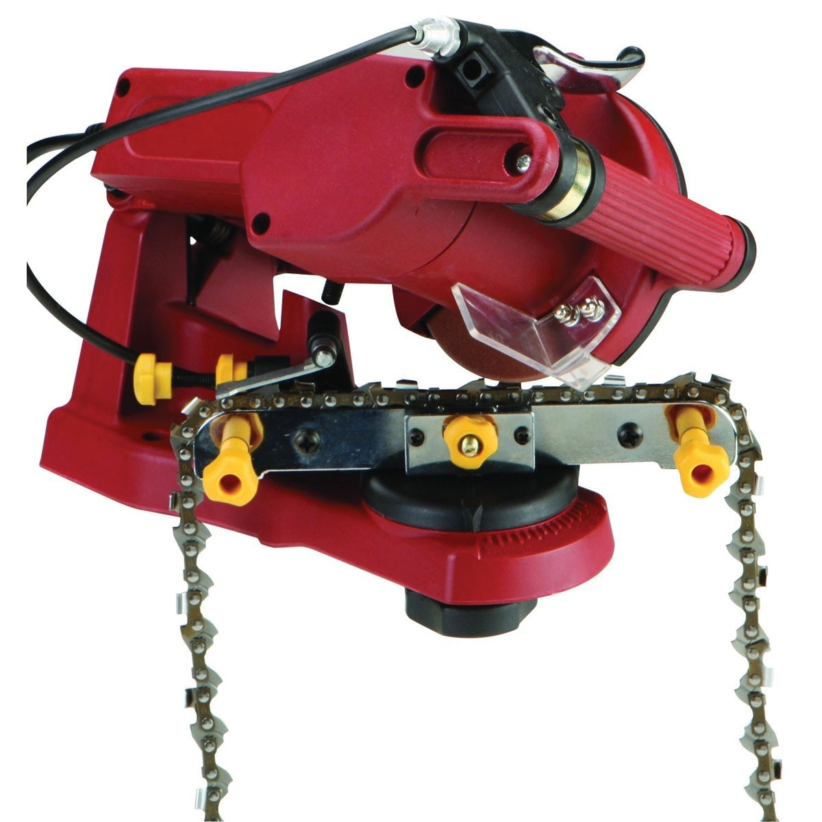 Electric chain saw sharpener greentooth