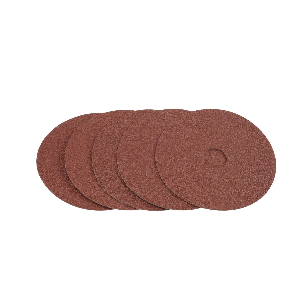 4 1 2 In 80 Grit Resin Fiber Sanding Discs 5 Pc