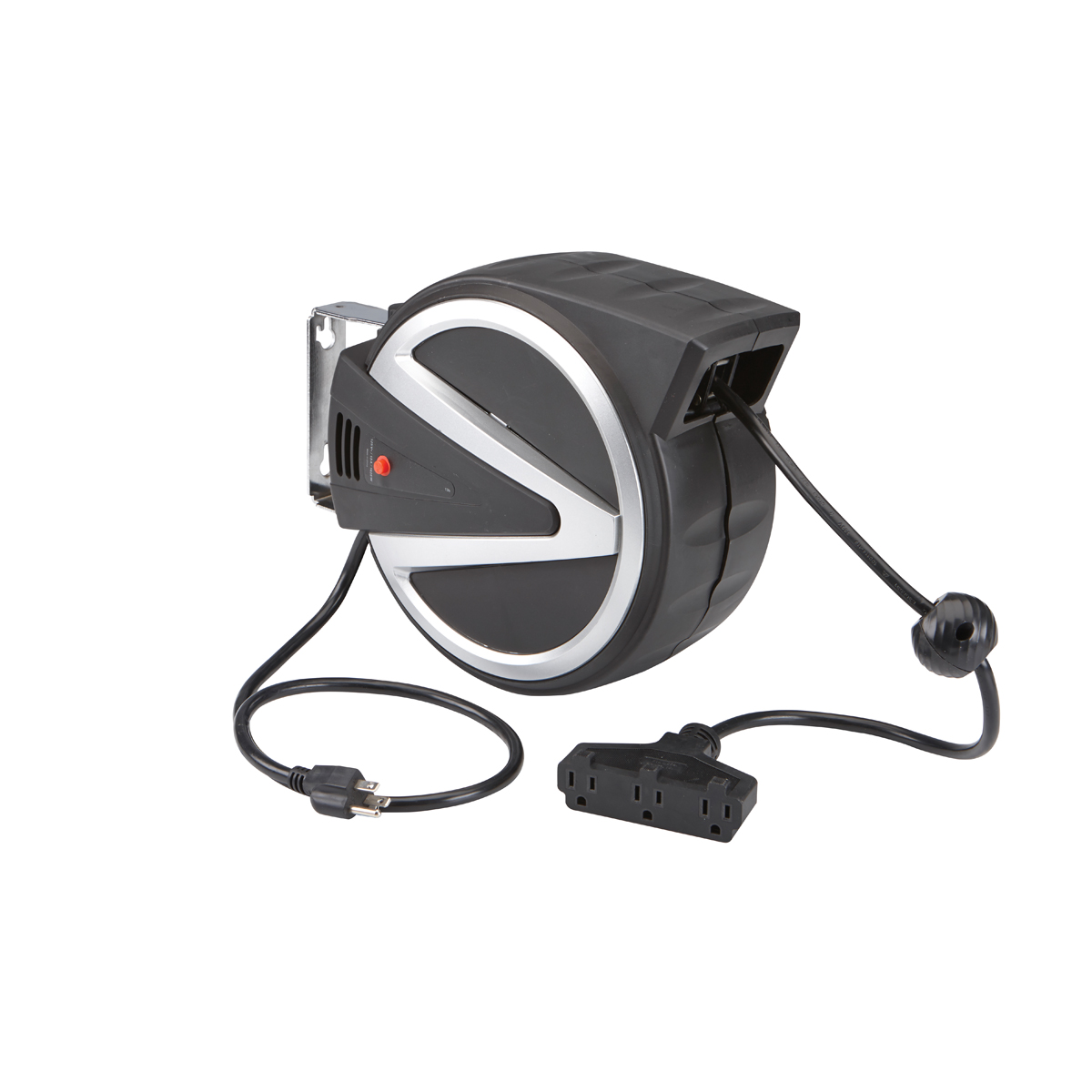 Retractable Extension Cord Reel >> 40 ft. Retractable Cord Reel with Triple Tap