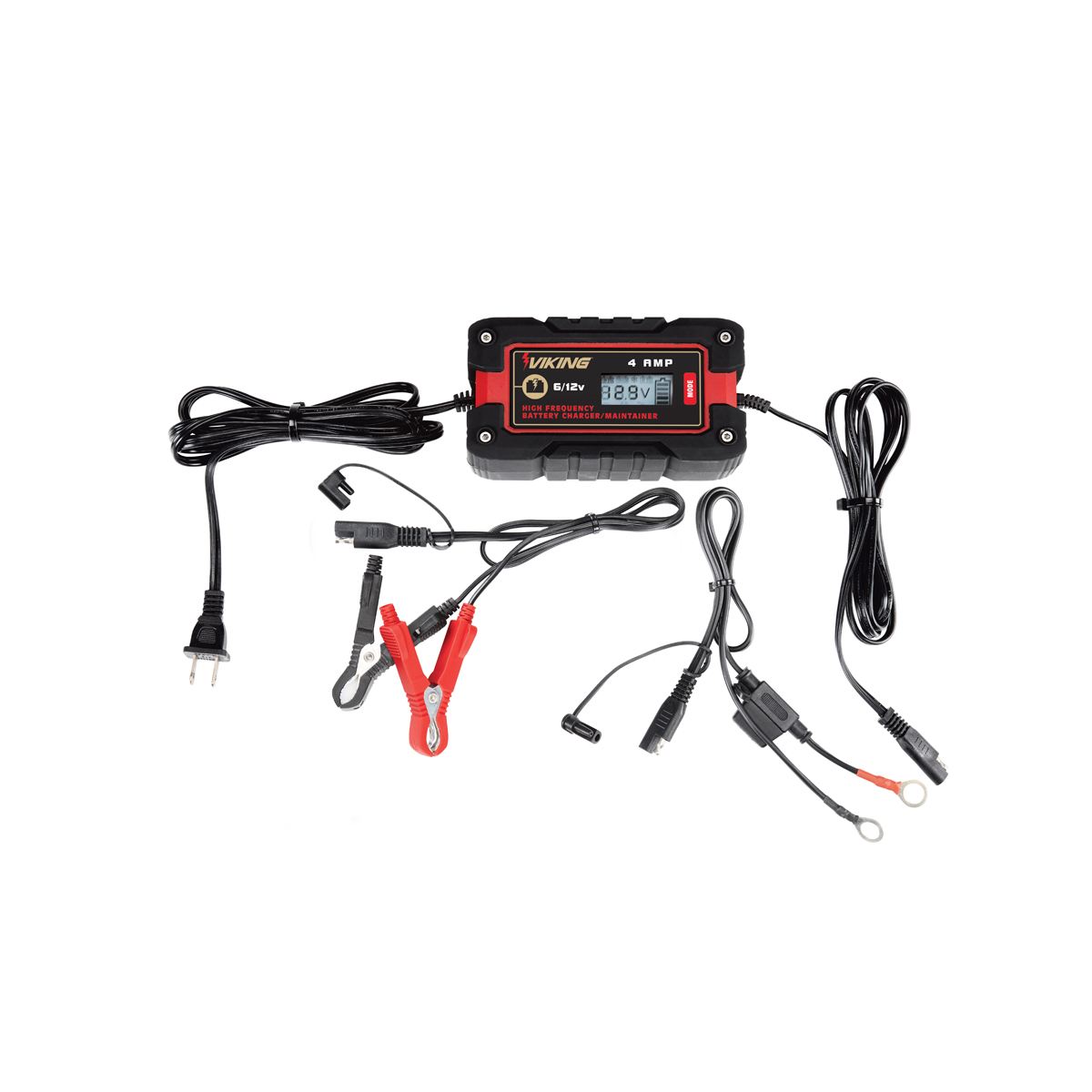 4 amp fully automatic microprocessor controlled battery charger  maintainer