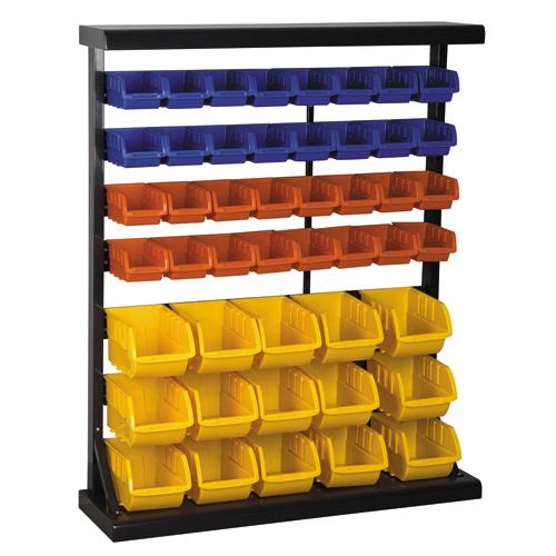 Floor Bin Rack W 47 Bins